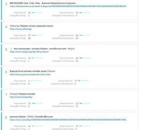 Обобщение одит SEO/SERP фактори за Онлайн магазин