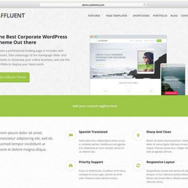 instalar web wordpress tema affluent